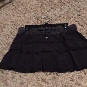 Lulu black tennis skirt